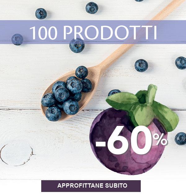 Solo per te 100 prodotti con -60% di sconto.